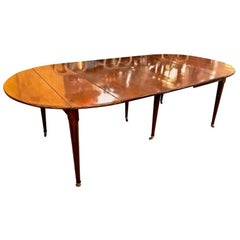 Louis XVI Early 19th Century Solid Mahogany Dining Table