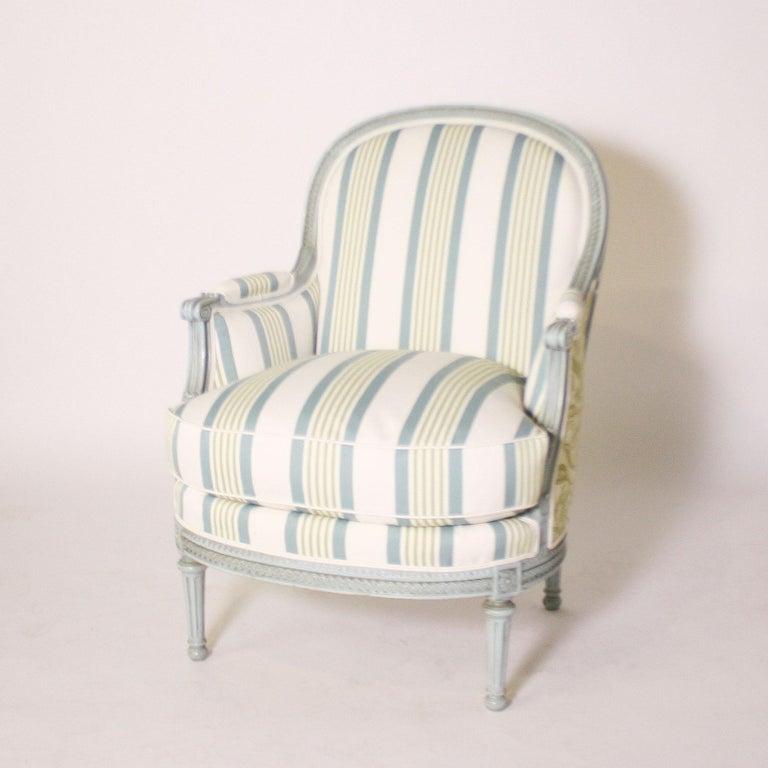 Louis XVI fauteuil chair, circa 1900 $4500.