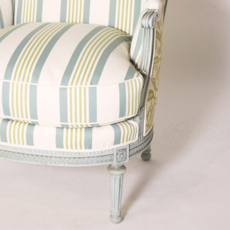 French Louis XVI Fauteuil chair, circa 1900 For Sale