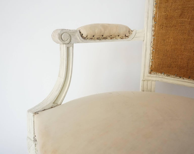 Louis XVI Fauteuil in Original Paint, Stamped, France, circa 1780 ...