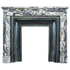 Louis XVI French Breche Violette Marble Fireplace