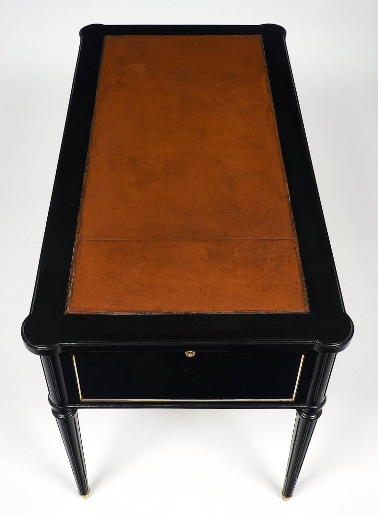 Louis XVI French Ebonized Desk For Sale 3