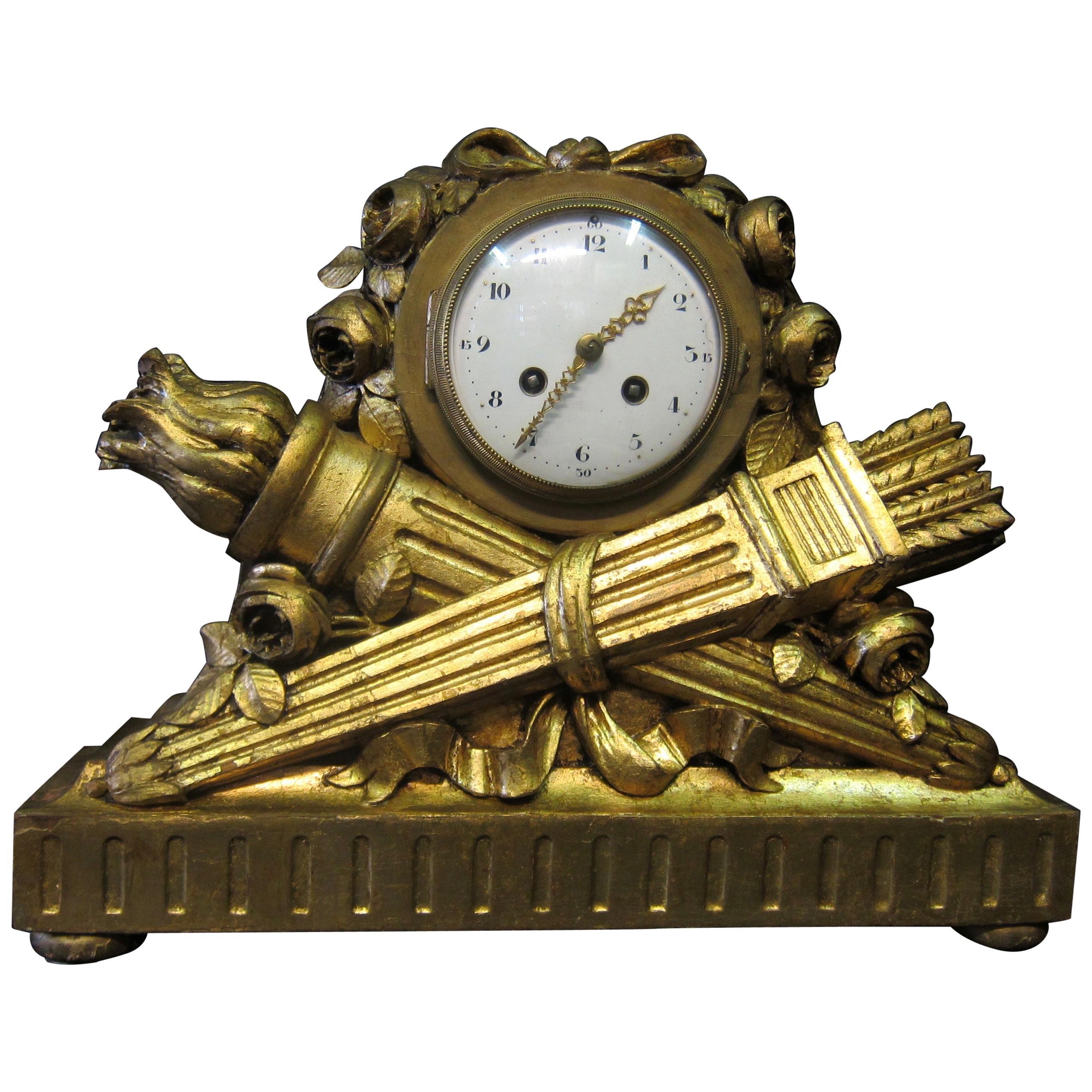 "Louis XVI French Mantel Clock by ""JUST"", C.H. Paris"