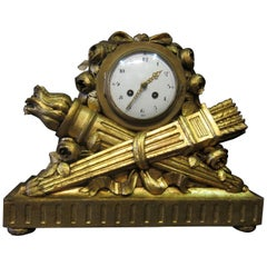 "Louis XVI French Mantel Clock by ""JUST"", C.H. Paris"