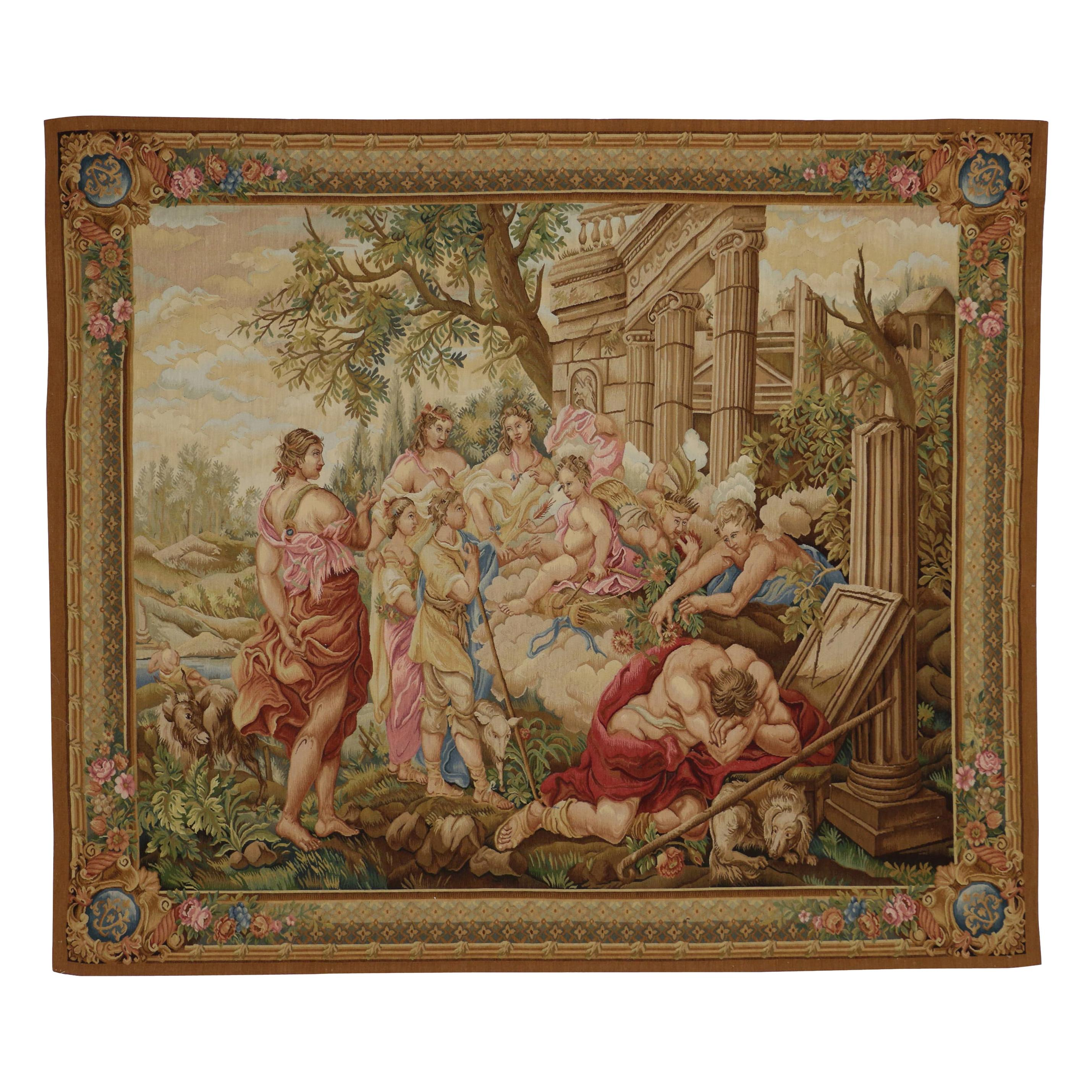 Louis XVI French Rococo Mythology Style Beauvais Tapestry after Francois Boucher