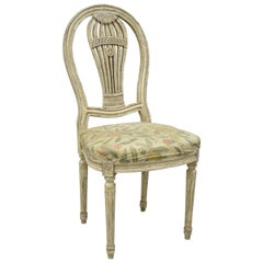 Louis XVI French Style Hot Air Balloon Back Montgolfier Cream Dining Side Chair