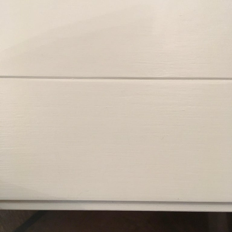 Oak France Louis XVI Style Kitchen White Painted Dining Table For Sale