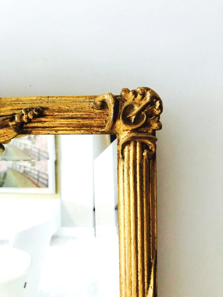 Louis XVI Gilded and Hand Carved Pier Mirror, France, 1940s For Sale 2