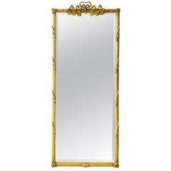 Louis XVI Gilded and Hand Carved Pier Mirror, France, 1940s