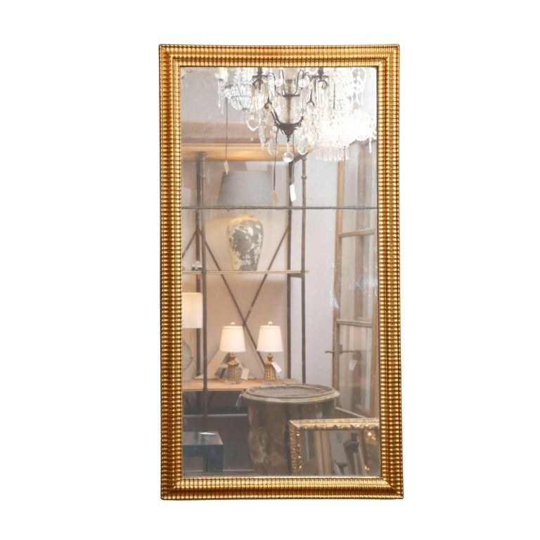 Louis XVI Gilded Mirror In Good Condition For Sale In Houston, TX