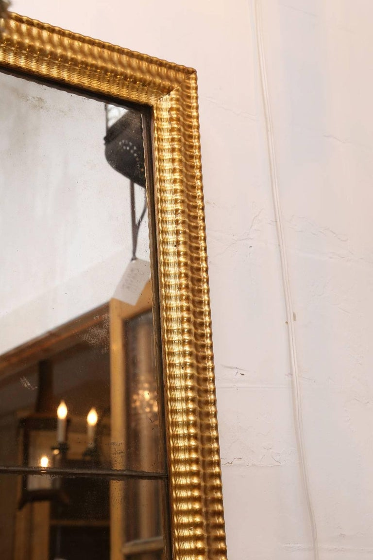 18th Century Louis XVI Gilded Mirror For Sale
