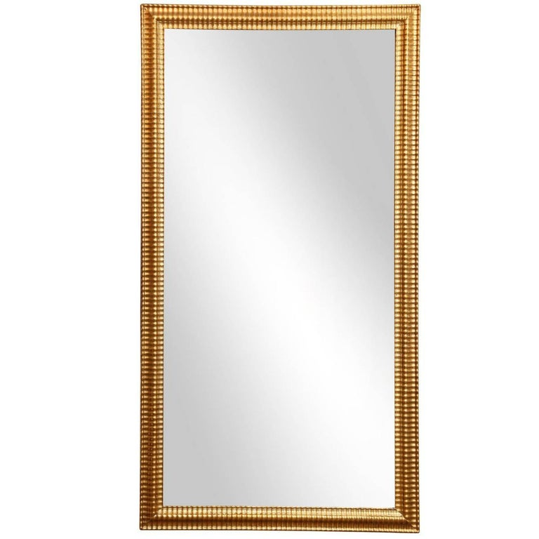 Louis XVI Gilded Mirror For Sale