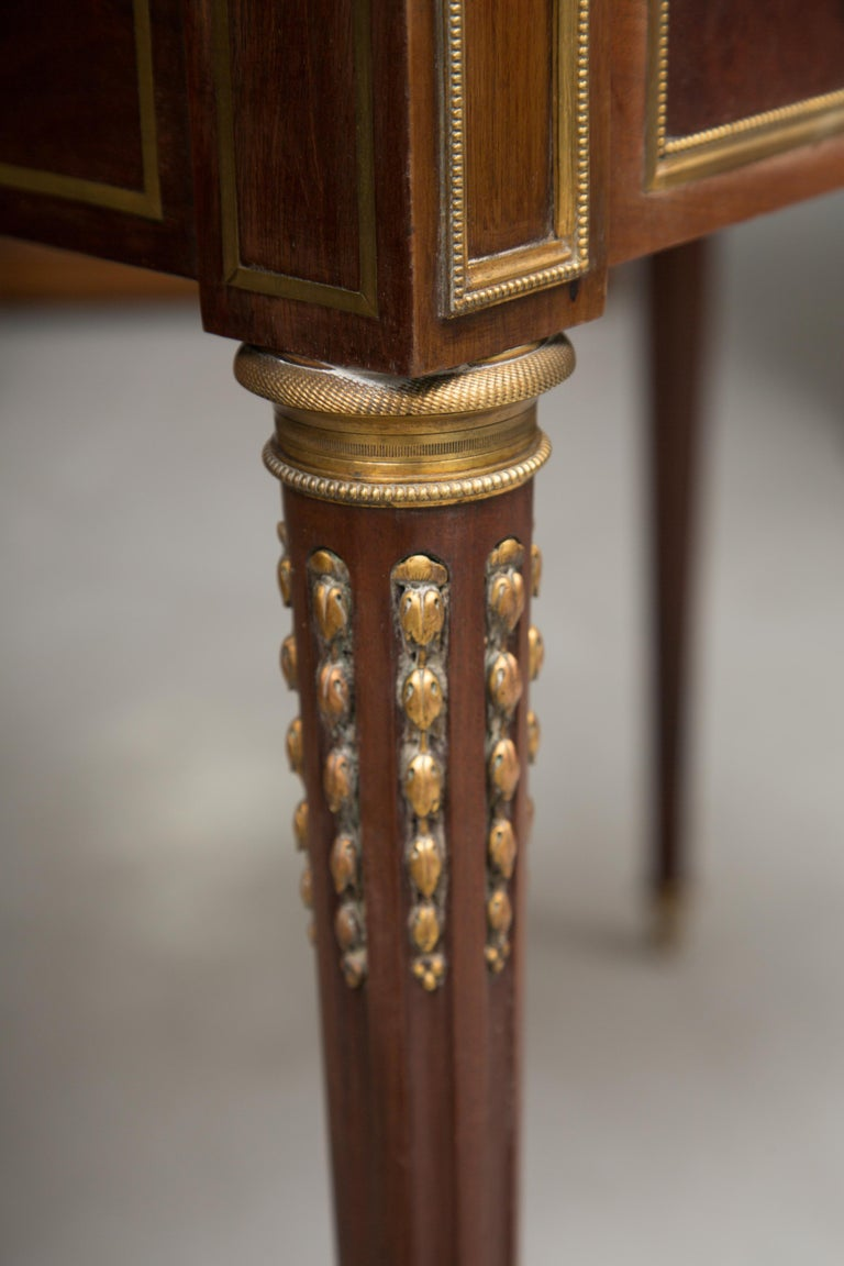 Louis XVI Gilt Bronze and Mahogany Bureau a Cylinder For Sale 5