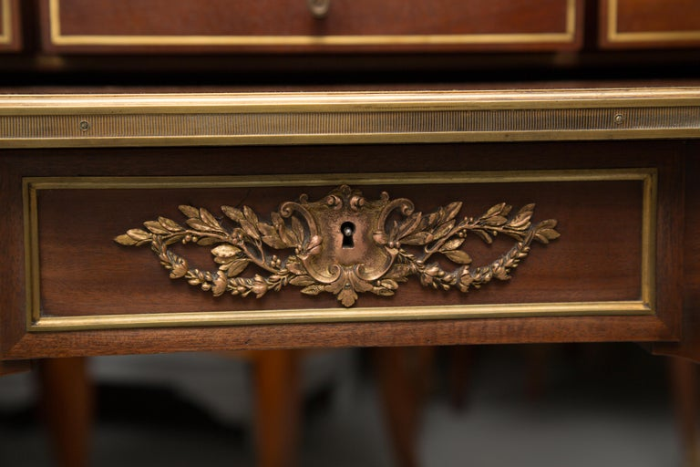 Louis XVI Gilt Bronze and Mahogany Bureau a Cylinder For Sale 6