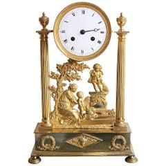 Louis XVI Gilt Bronze Clock