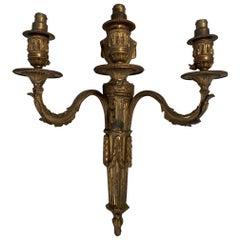 Louis XVI Gilt Bronze Sconces