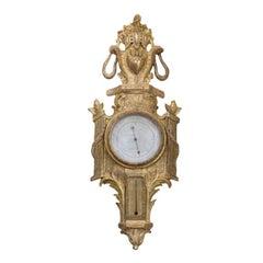 Louis XVI Giltwood Barometer