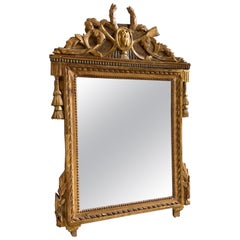 Louis XVI Giltwood Mirror, 18th Century