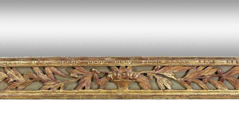 18th Century Louis XVI Giltwood Pier Mirror For Sale
