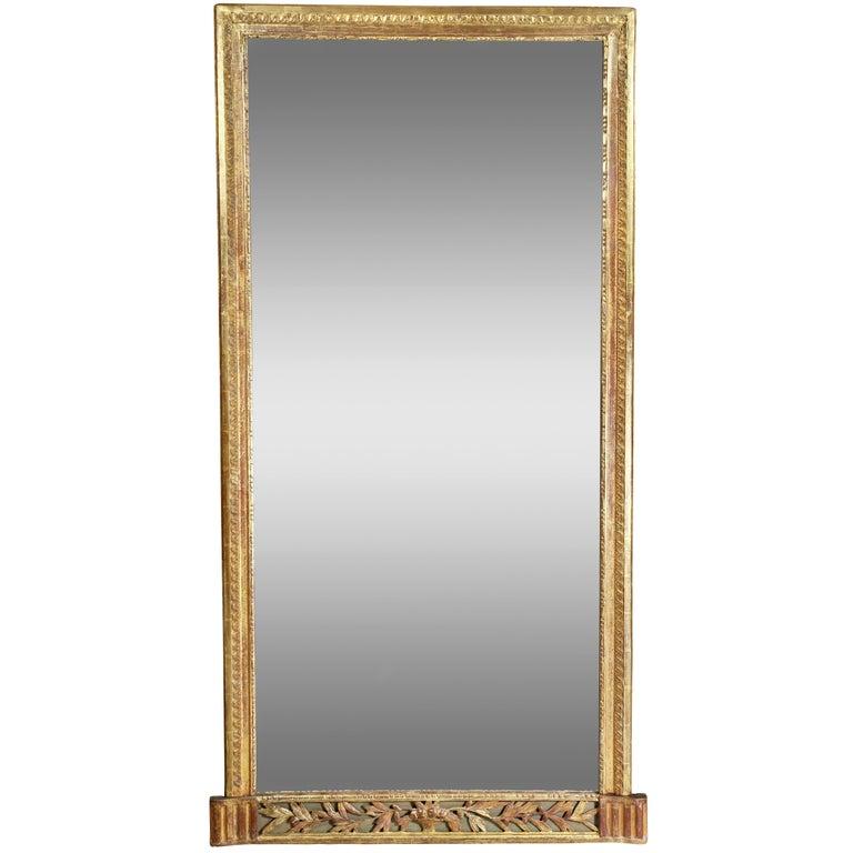 Louis XVI Giltwood Pier Mirror For Sale