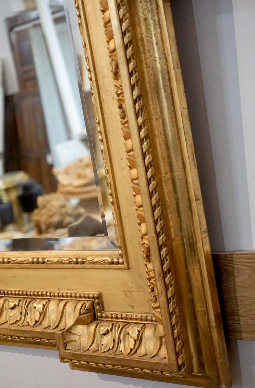 Louis XVI Gold Leaf Mirror For Sale 1