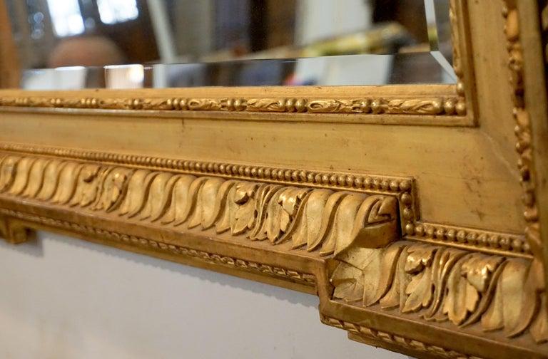 Louis XVI Gold Leaf Mirror For Sale 2