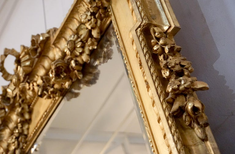 Louis XVI Gold Leaf Mirror For Sale 3