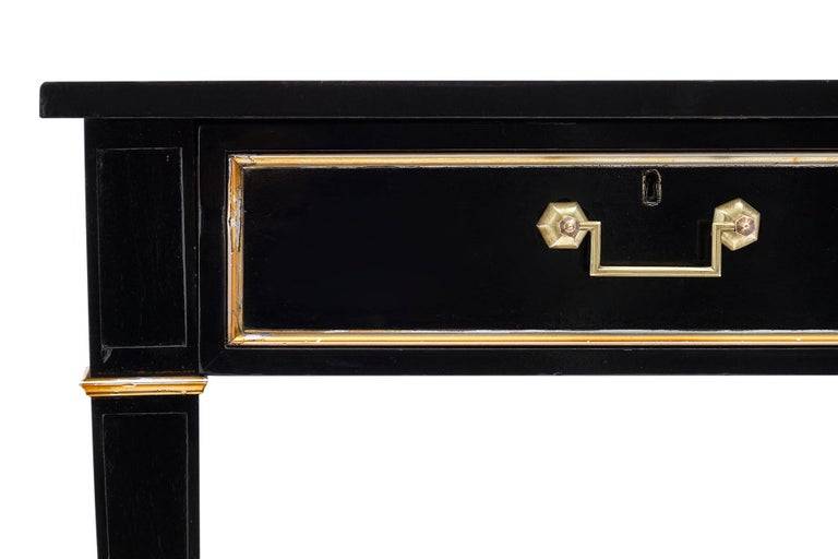 Brass Louis XVI Grand Antique Desk For Sale
