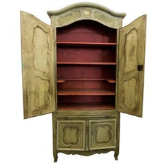 Louis XVI Green Armoire