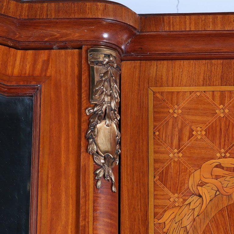 Louis XVI Inlaid 3-Door Armoire In Good Condition For Sale In Vancouver, British Columbia