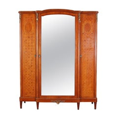 Louis XVI Inlaid 3-Door Armoire