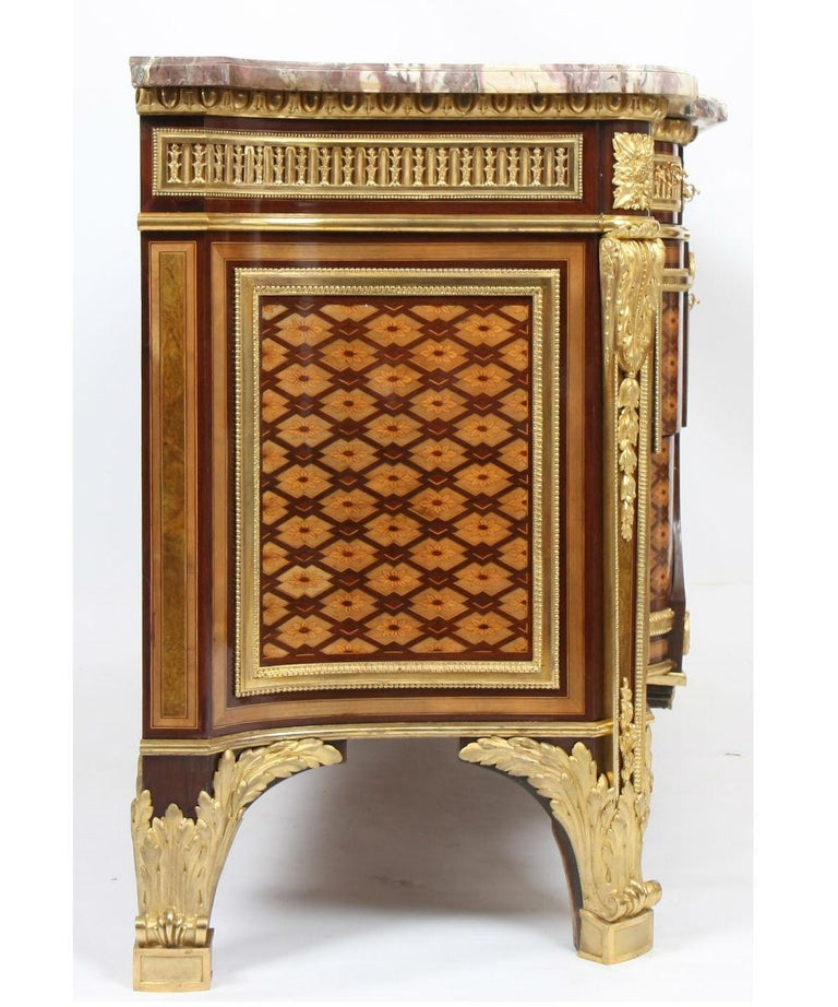 French Louis XVI Inlaid Commode attribution from Riesener For Sale
