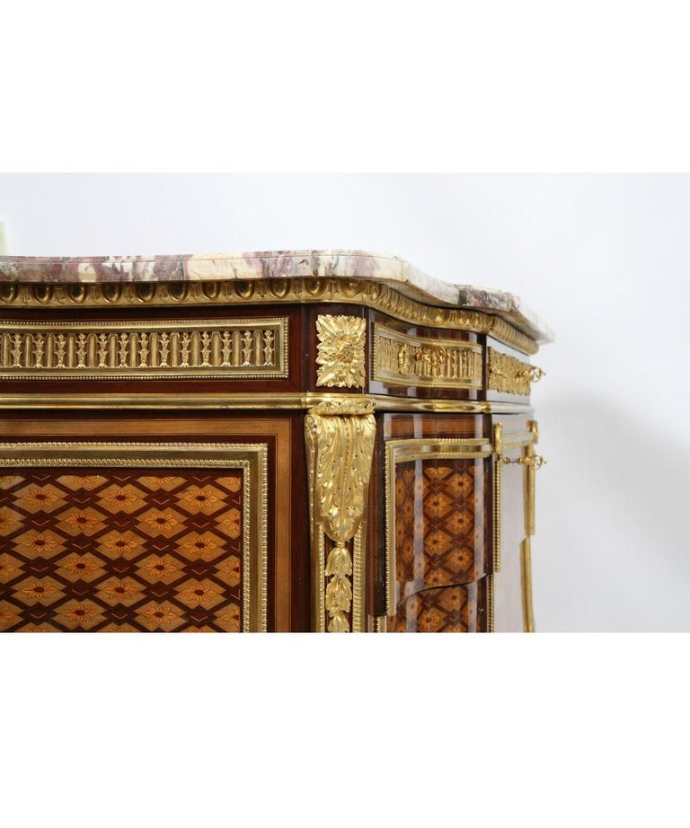 Marquetry Louis XVI Inlaid Commode attribution from Riesener For Sale