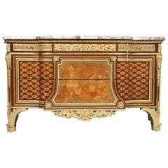Louis XVI Inlaid Commode attribution from Riesener