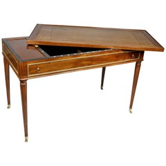 Louis XVI Mahogany and Bronze Mounted Tric Trac Table