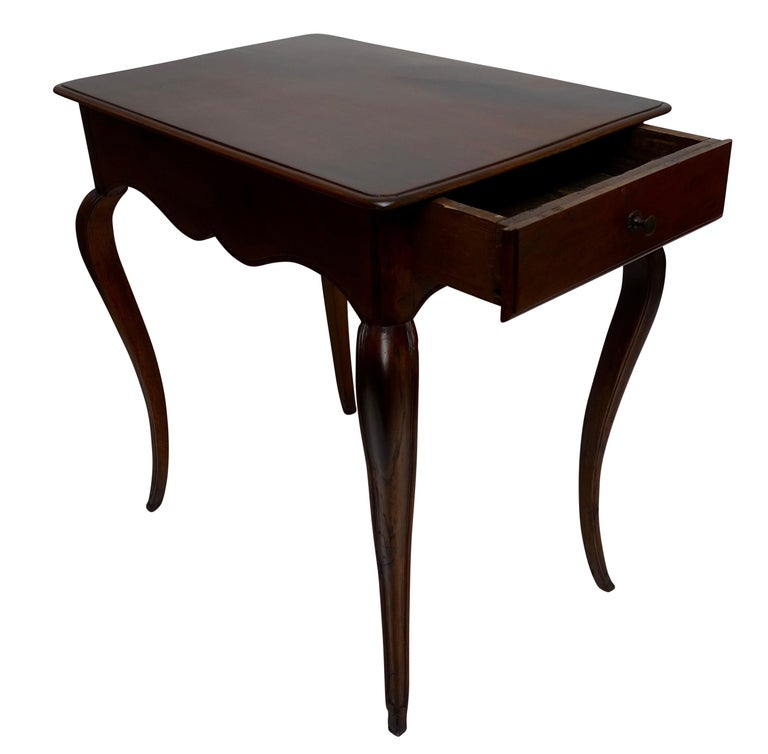 Louis XVI Mahogany Work Table with Single Drawer, French, circa 1790 In Good Condition For Sale In San Francisco, CA