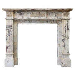 Louis XVI Mantle of Breche Marble from the 19th Century