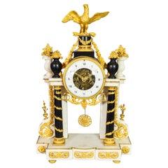 Louis XVI Marble And Ormolu Portico Clock