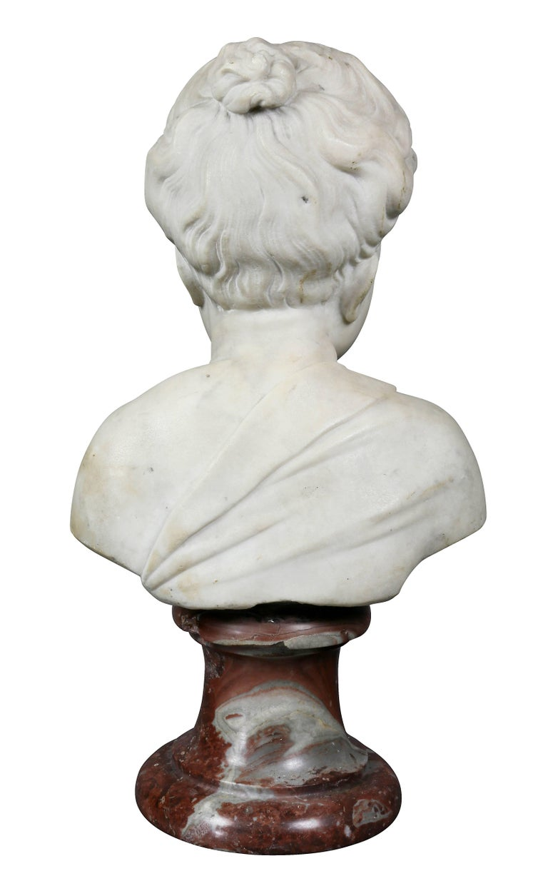 Louis XVI Marble Bust of a Young Boy For Sale 1