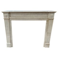Louis XVI Marble Mantel from France