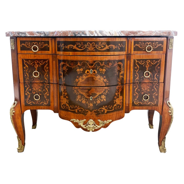 Louis XVI Marble Top Commode For Sale