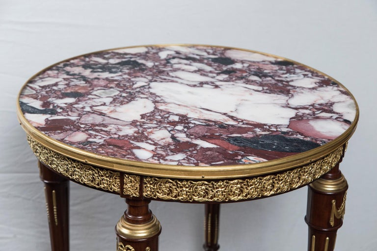 French Louis XVI Marble Topped Center Table, End Table or Gueridon For Sale