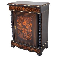 Louis XVI Marquetry and Inlays Cabinet in the Manner of Daniel Deloose