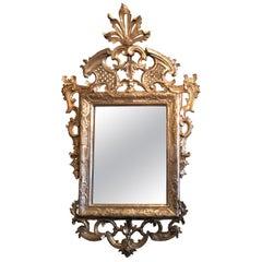 Louis XVI Mirror, Silver Patina