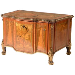 Louis XVI Music Box in the form of Miniature Marquetry Commode. French, 1775