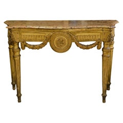 Louis XVI Neoclassical Giltwood Console