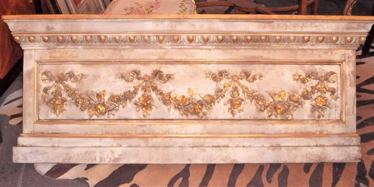 Louis XVI Neoclassical Style Paint and Giltwood Boiserie Overdoor Panel For Sale 9