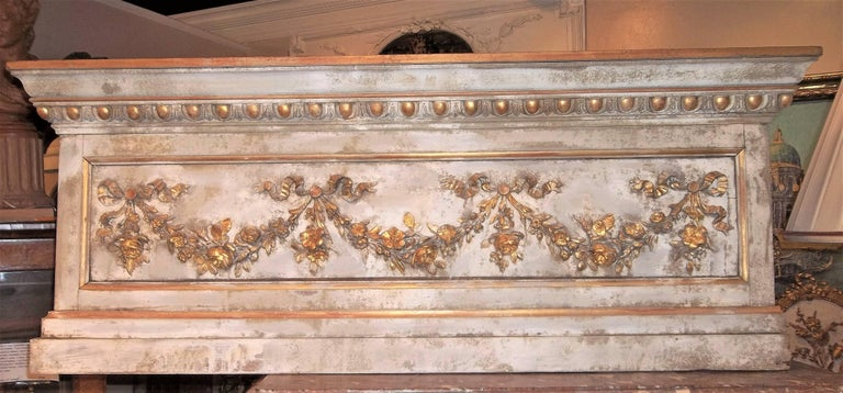 Louis XVI Neoclassical Style Paint and Giltwood Boiserie Overdoor Panel For Sale 10