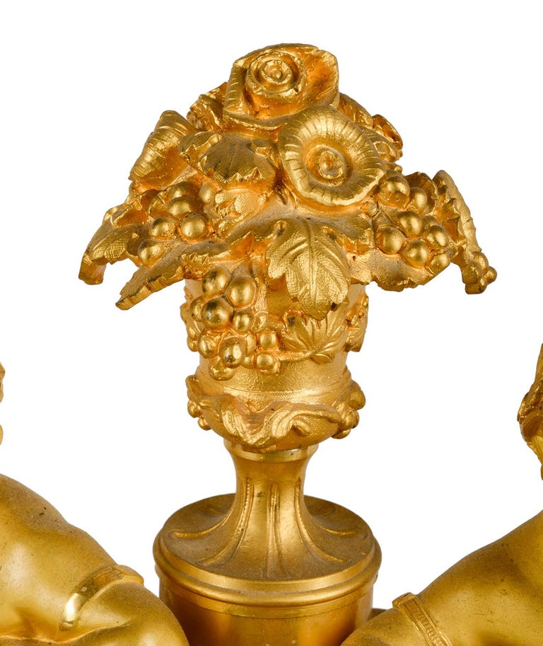 French Louis XVI, Ormolu and Sevres Style Mantle Clock, 19th Century For Sale