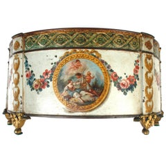 Louis XVI Painted and Gilt Decorated Tole Cachepot, c1780